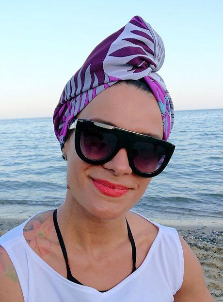 Aksesoar-Summer-Kyrpa-Turbanl-Purple-flora