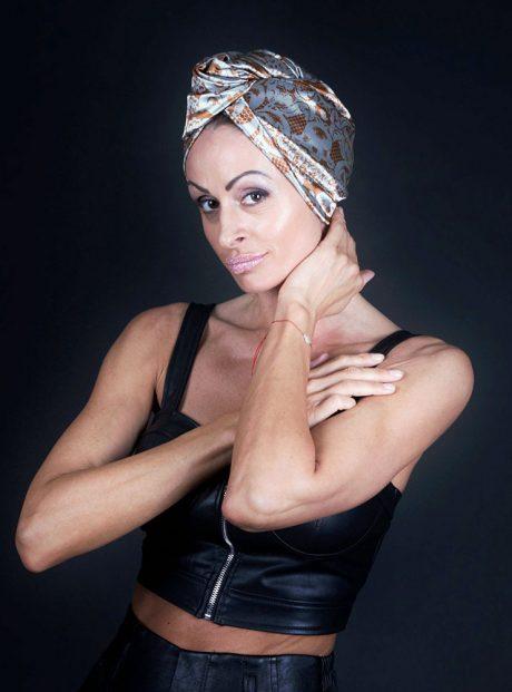 Karpa-Podsushavane-Kosa-Aksesoar-Turban-Brown-Lace