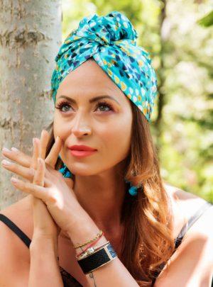 Кърпа за подсушаване на коса тюрбан Iva