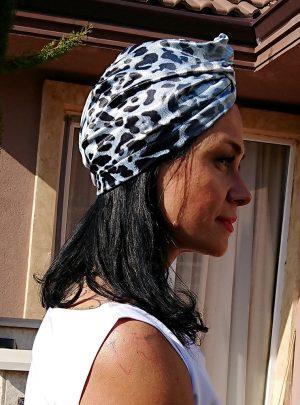 Кърпа за подсушаване на коса тюрбан Wild nature