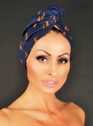 Кърпа за подсушаване на коса тюрбан Africa Style