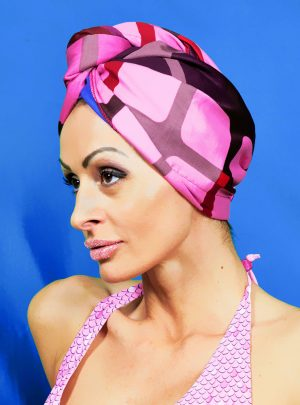 Кърпа за подсушаване на коса тюрбан Lilac Simplicity