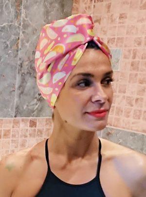 Кърпа за подсушаване на коса тюрбан Tuti Fruti