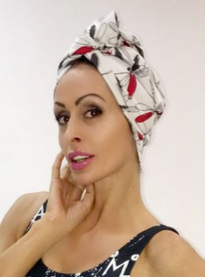 Кърпа за подсушаване на коса тюрбан Dragofly Magic