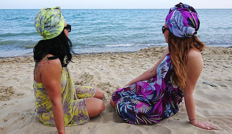 Море Стил Парео Тюрбан Лято Плаж Кърпа