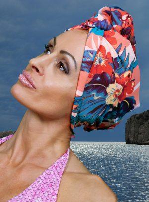 Кърпа за коса тюрбан Hawai + шал парео