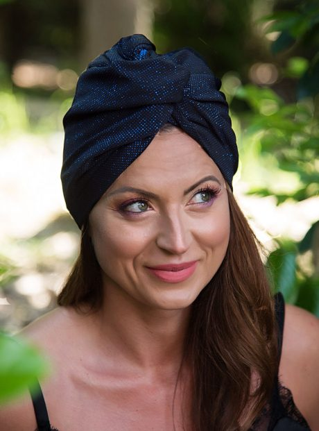 Turban-Aksesoar-Blue-Diamonds