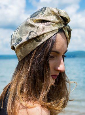 Кърпа за подсушаване на коса тюрбан Gold Style
