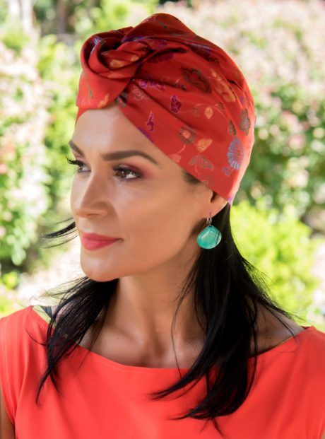 Turban-Aksesoar-Kosa-Stil-Plazh-Chinese-red