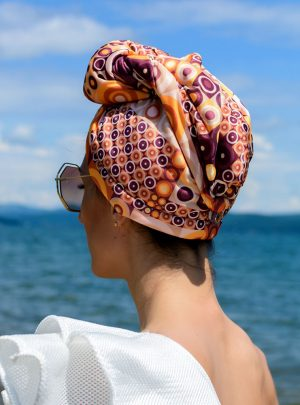 Кърпа за подсушаване на коса тюрбан Circles