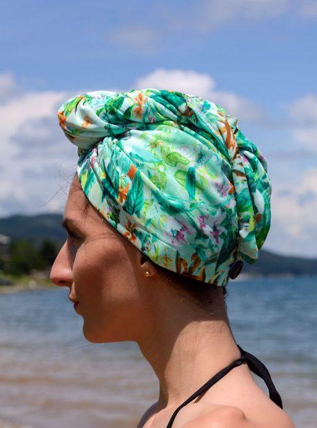 Karpa-Podsushavane-Kosa-Turban-Style-Sea-Green-garden