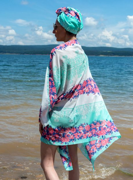 Plajen-Shal-Turban-Spa-Pareo-See-Moda-Kyrpa-Podsushavane-Rose-and-green