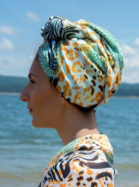 Turban-Aksesoar-Karpa-Kosa-Moda-Zebra