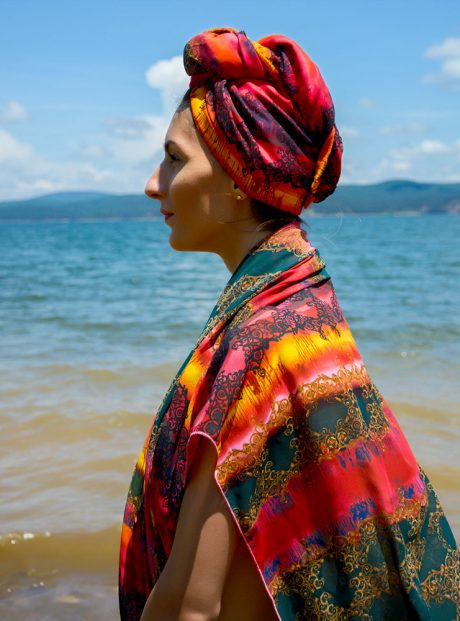 Plajen-Shal-Turban-Sea-Pareo-Style-Kyrpa-Podsushavane-Red-Passion
