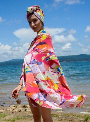 Кърпа за подсушаване на коса тюрбан Joy + шал