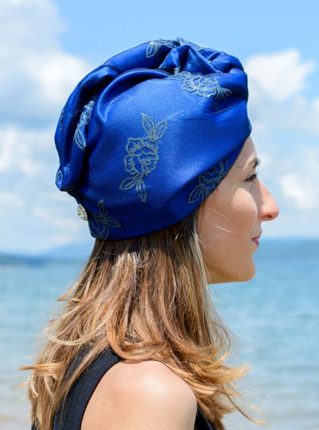 Turban-Aksesoar-Karpa-Kosa-Moda-Blue-roses