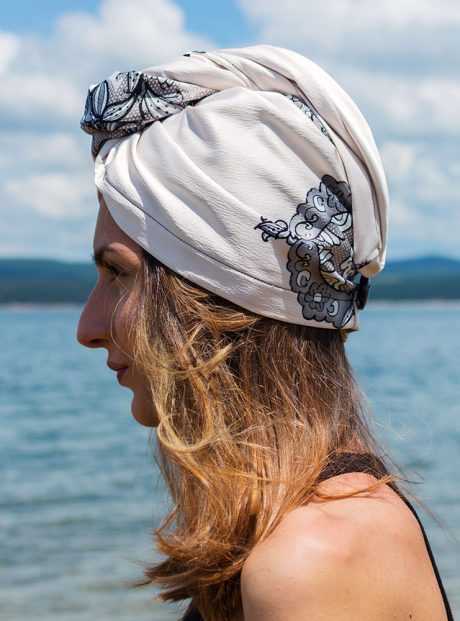 Turban-Aksesoar-Karpa-Lux-Sea-Black-Lace