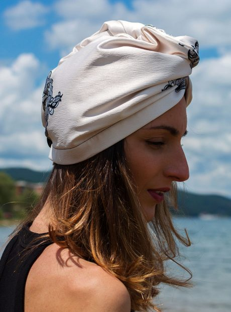 Turban-Aksesoar-Karpa-Sea-Black-Lace