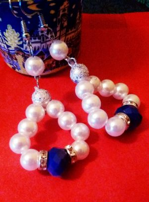 Обици Viena нежно съчетание от перли и мъниста