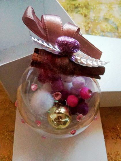 Уникална Коледна Топка Fluffs Balls Декорация