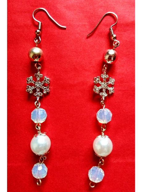 Earrings-Magic-Winter-Gift-Pearls-Crystal-snowflakes-and-beads