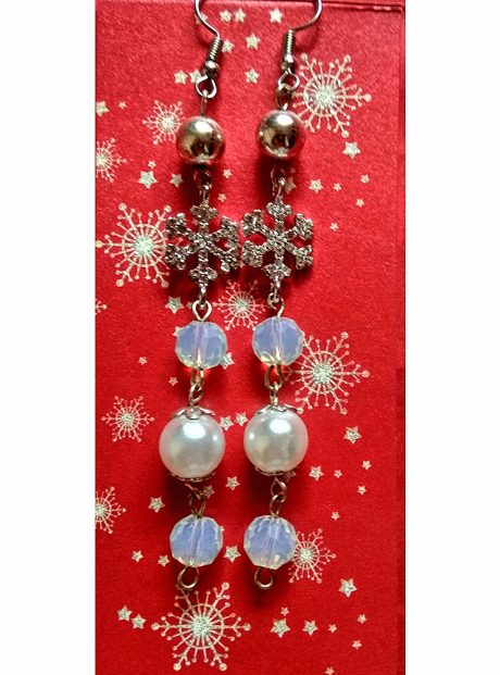 Earrings-Magic-Winter-pearls-crystal-snowflakes-and-beads
