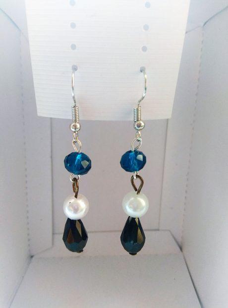 Earrings-White-Blue-Black-Gift