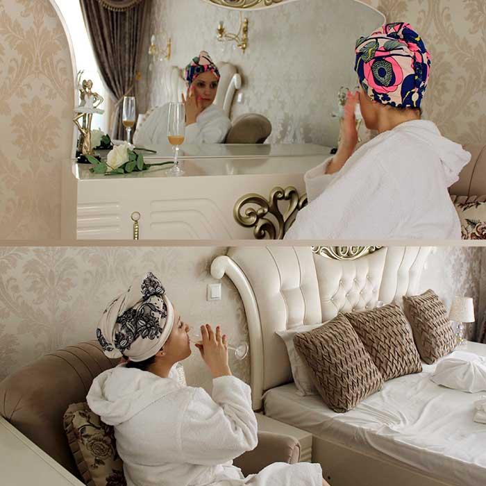 кърпа за подсушаване на коса