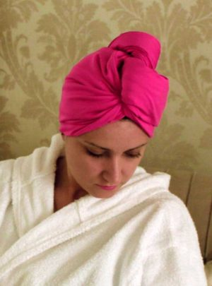 Тюрбан Аксесоар за Глава Посушаване Стил Мода Pink HeadKnot