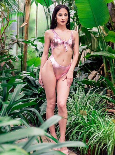 Banski-Swimsuit-Pink-color-onepiece-Tessa-Headknot