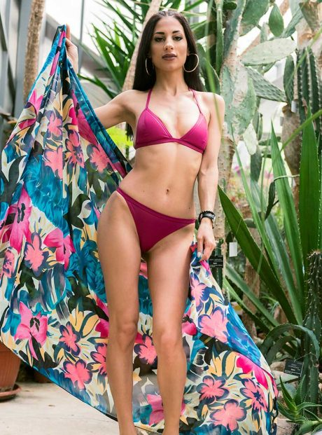Swimsuit-Magenta-Triangle-Sea-Tessa-Headknot
