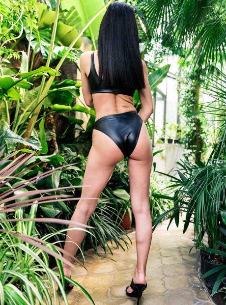 Swimsuit-Sea-Black-Leather-Tessa-Headknot