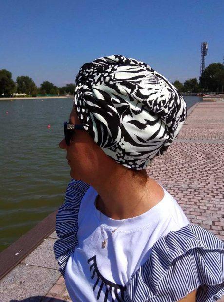 turban-hair-towel-black-white-wild-life