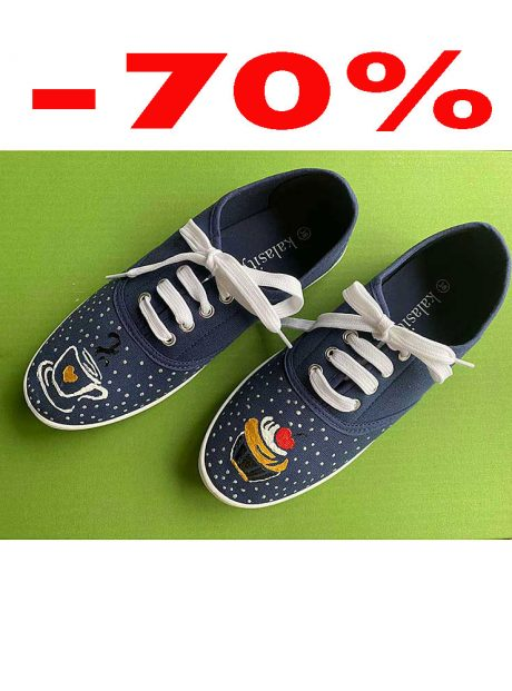 Hand-painted-sneakers-denim-cupcake
