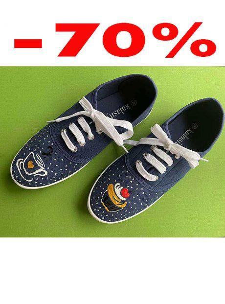 Hand-painted-sneakers-denim-cupcake
