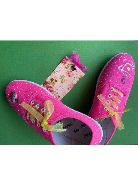 Hand-painted-sneakers-pink-cupcake-Headknot