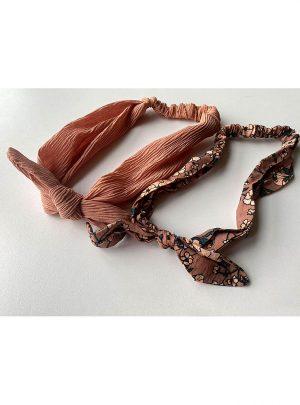 Лента за коса с възел солей кафява
