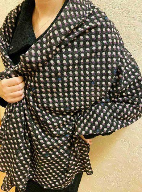Shal-Dots-Long-Woman-Fashion-Classic-Zima-Headknot