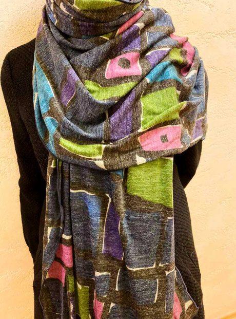 Shal-Long-Woman-Fashion-Classic-Zima-Headknot